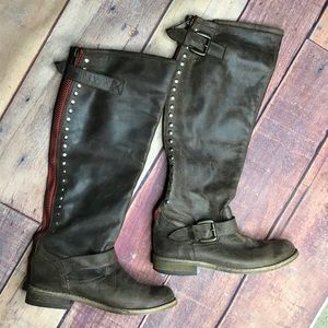 Steve Madden Lynet Leather Riding Boots